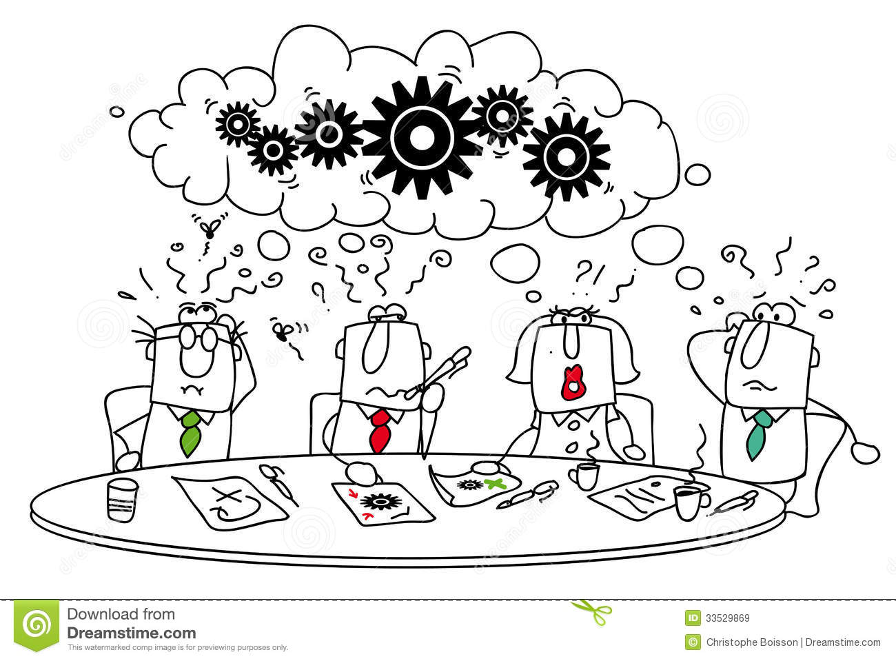 Brainstorming Stock Vector Illustration Of Concepts