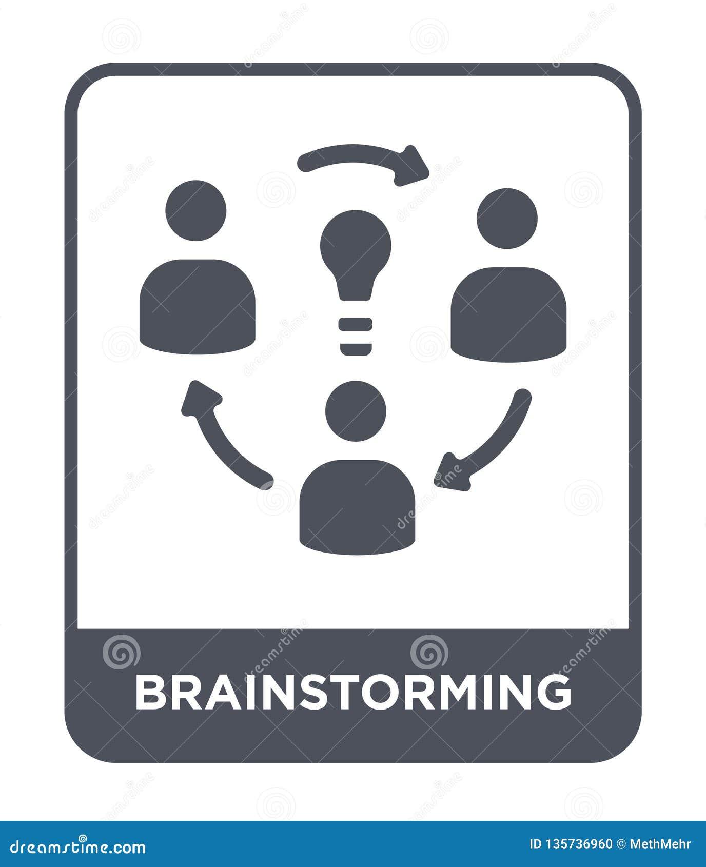 Brainstorming ikona w modnym projekta stylu Brainstorming ikona odizolowywająca na białym tle brainstorming wektorowa ikona prost