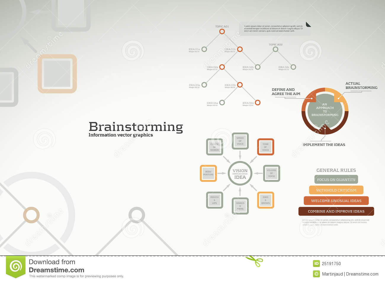 Brainstorming Infographics - Ideas, Graphs, Charts Stock Photo - Image ...
