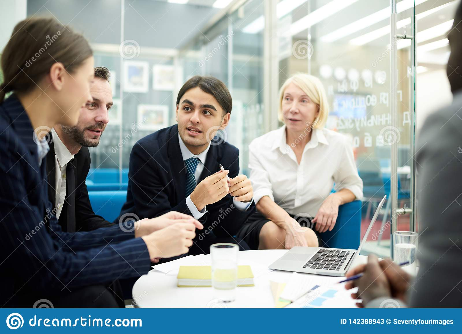 Brainstorming In Office Stock Image Image Of Boss