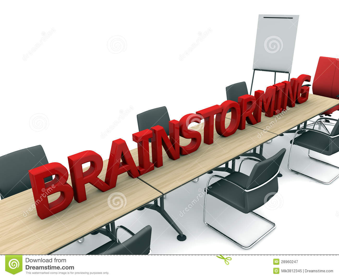 Brainstorming And Room Royalty Free Stock Photography - Image ...