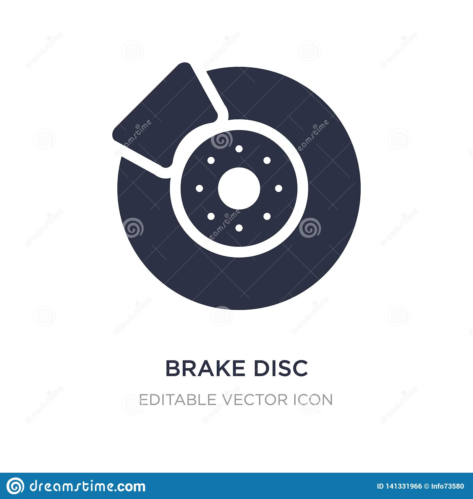 brake disc icon on white background. Simple element illustration from Transportation concept