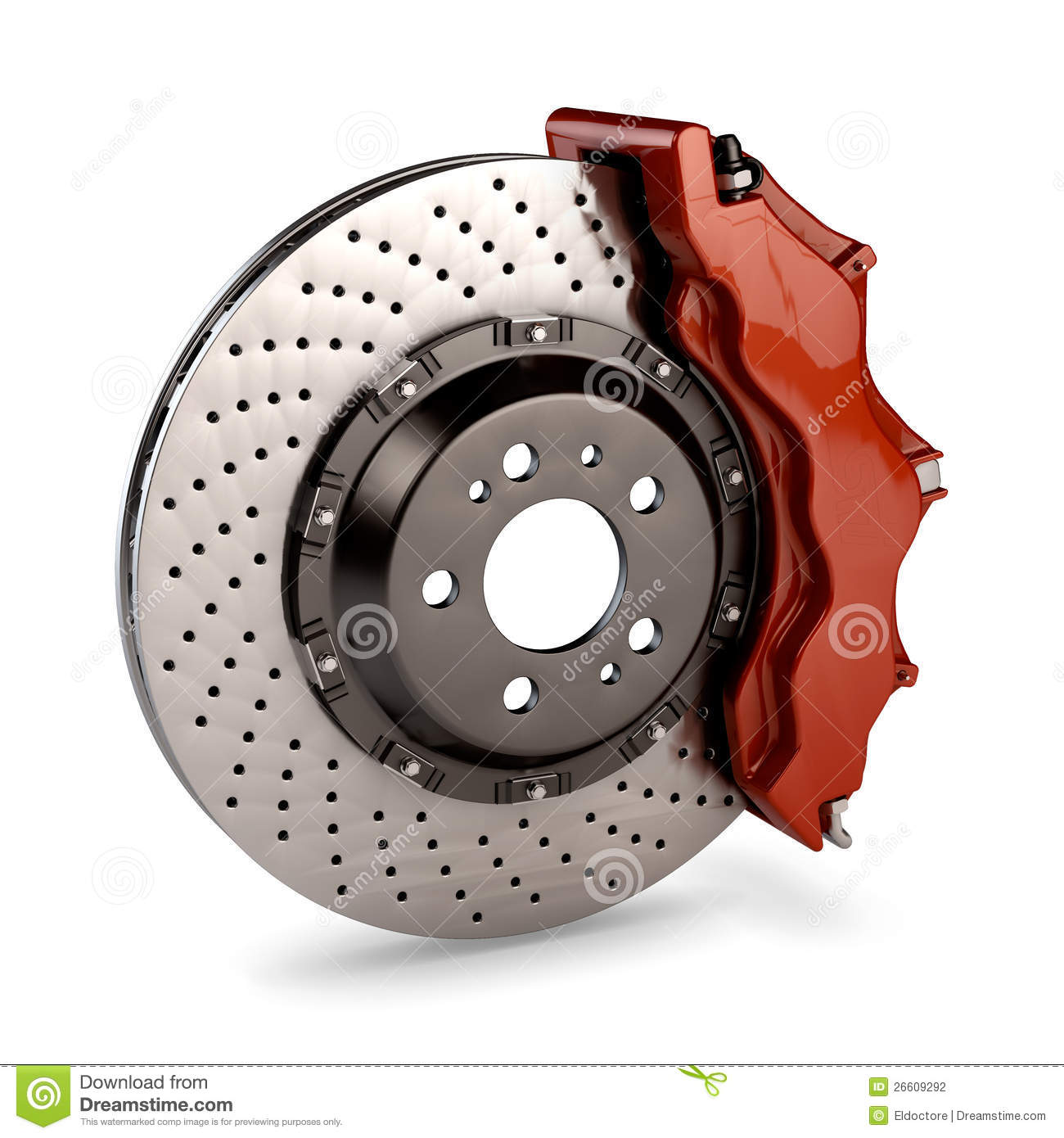 brake disc and red calliper from a racing car stock illustration illustration of wheel. Black Bedroom Furniture Sets. Home Design Ideas
