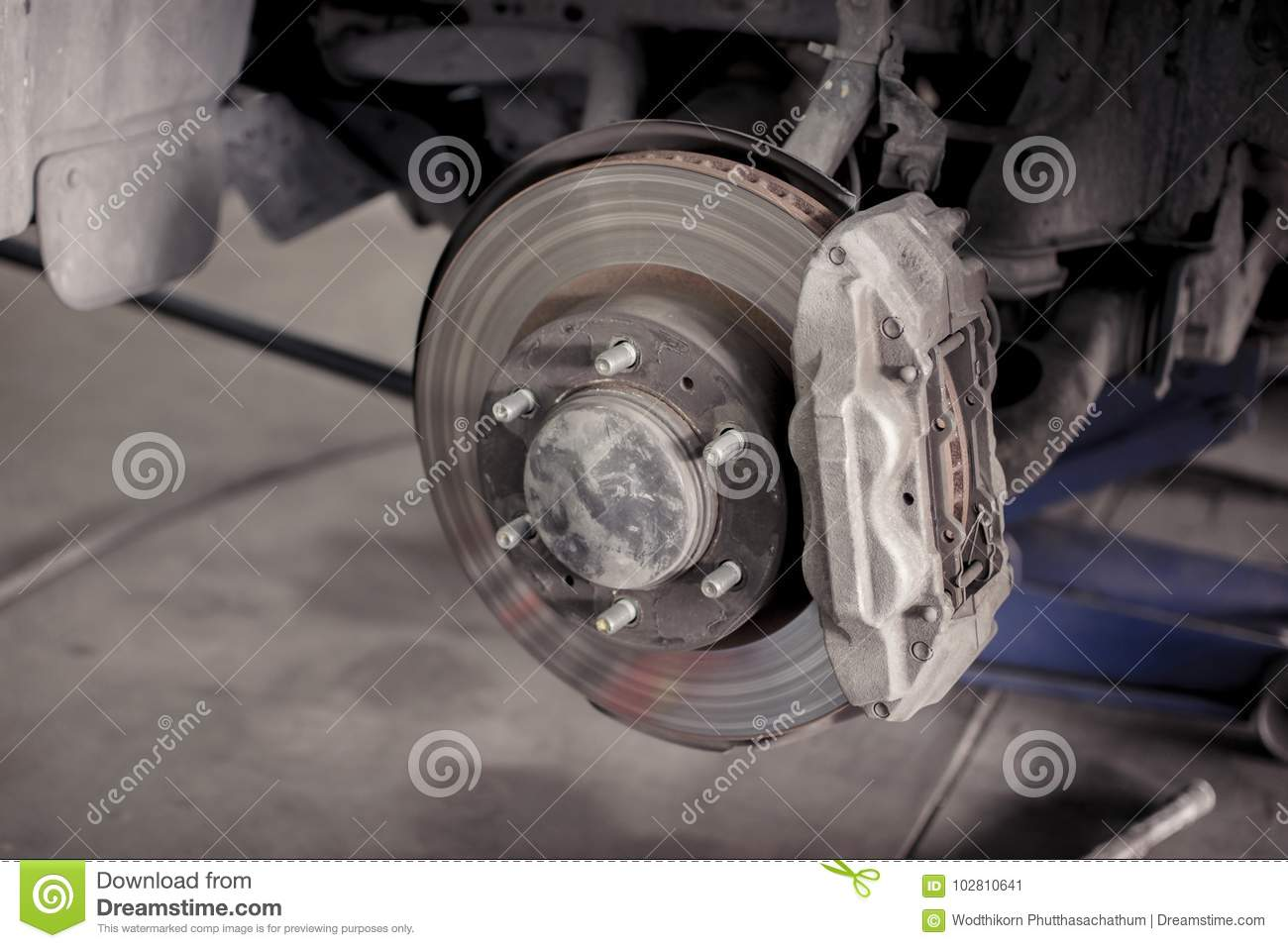 Brake Repair Shops >> Brake Disc System Of Car Stock Image Image Of Dirty 102810641