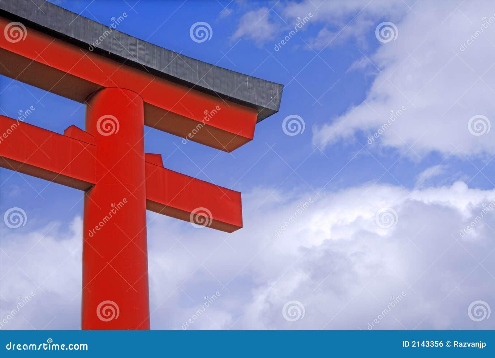 Brama japończyków do świątyni
