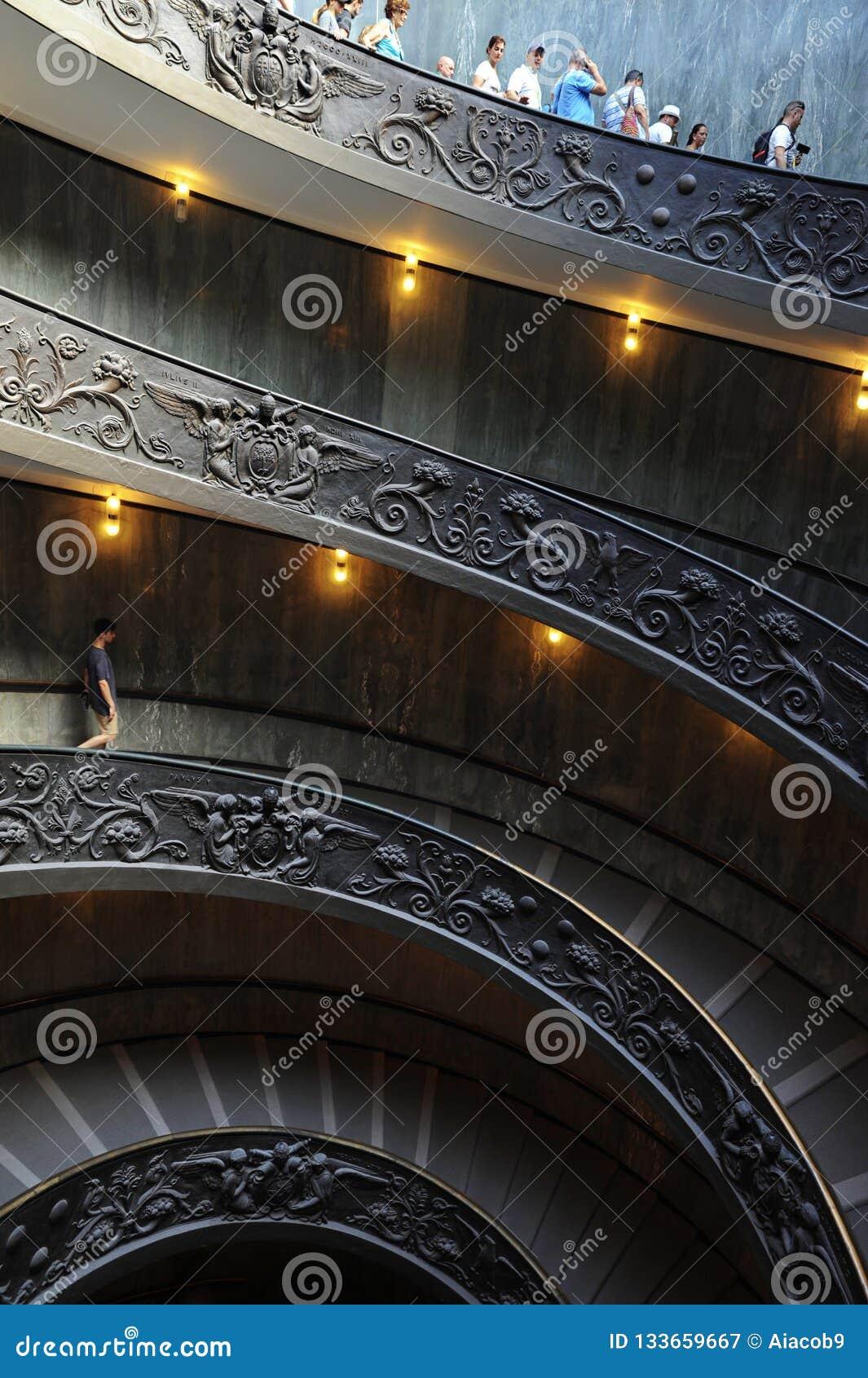 Bramante Ślimakowaty schody, Watykański muzeum, watykan, Włochy