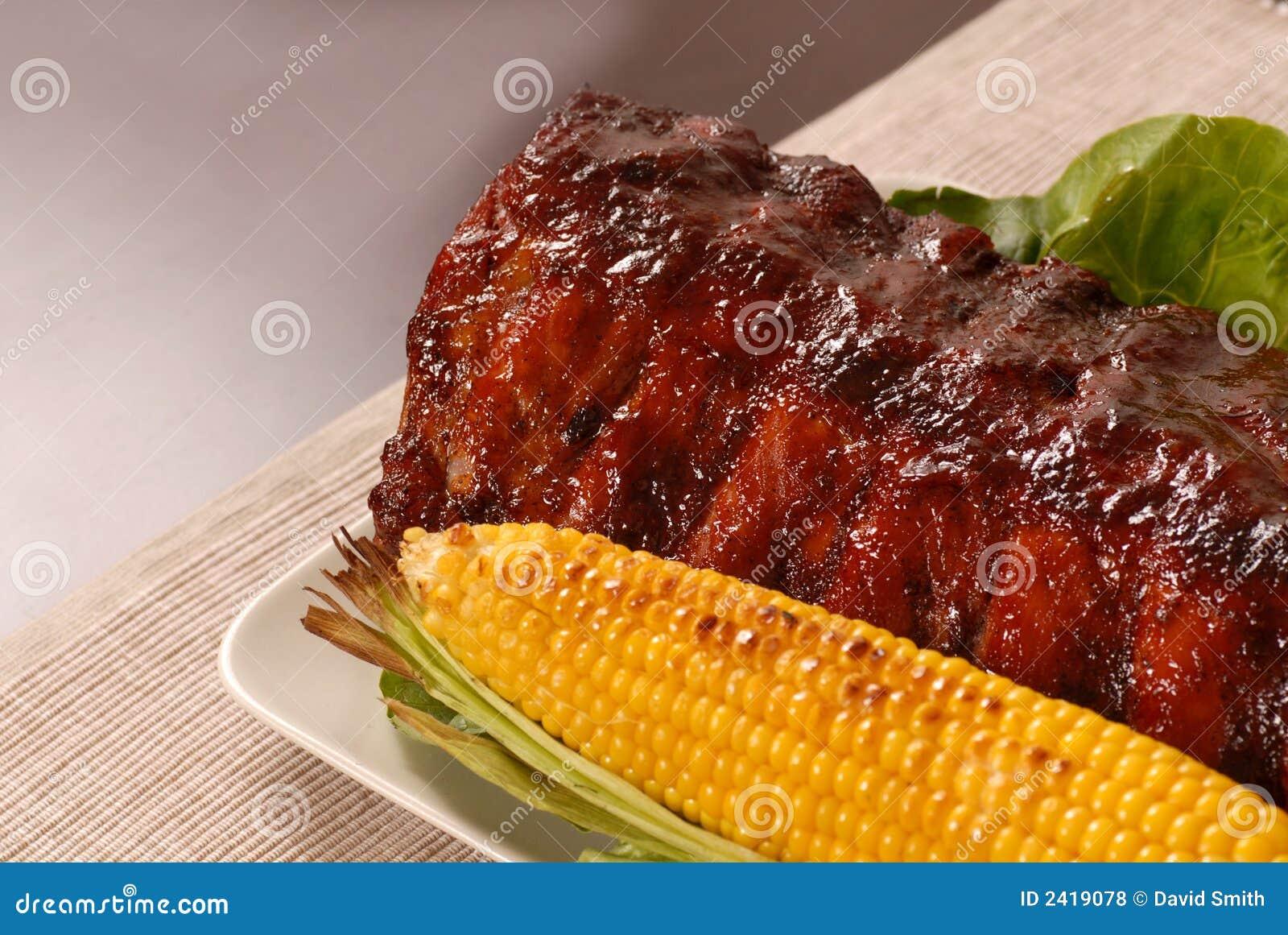 Brame des nervures et du maïs de barbecue