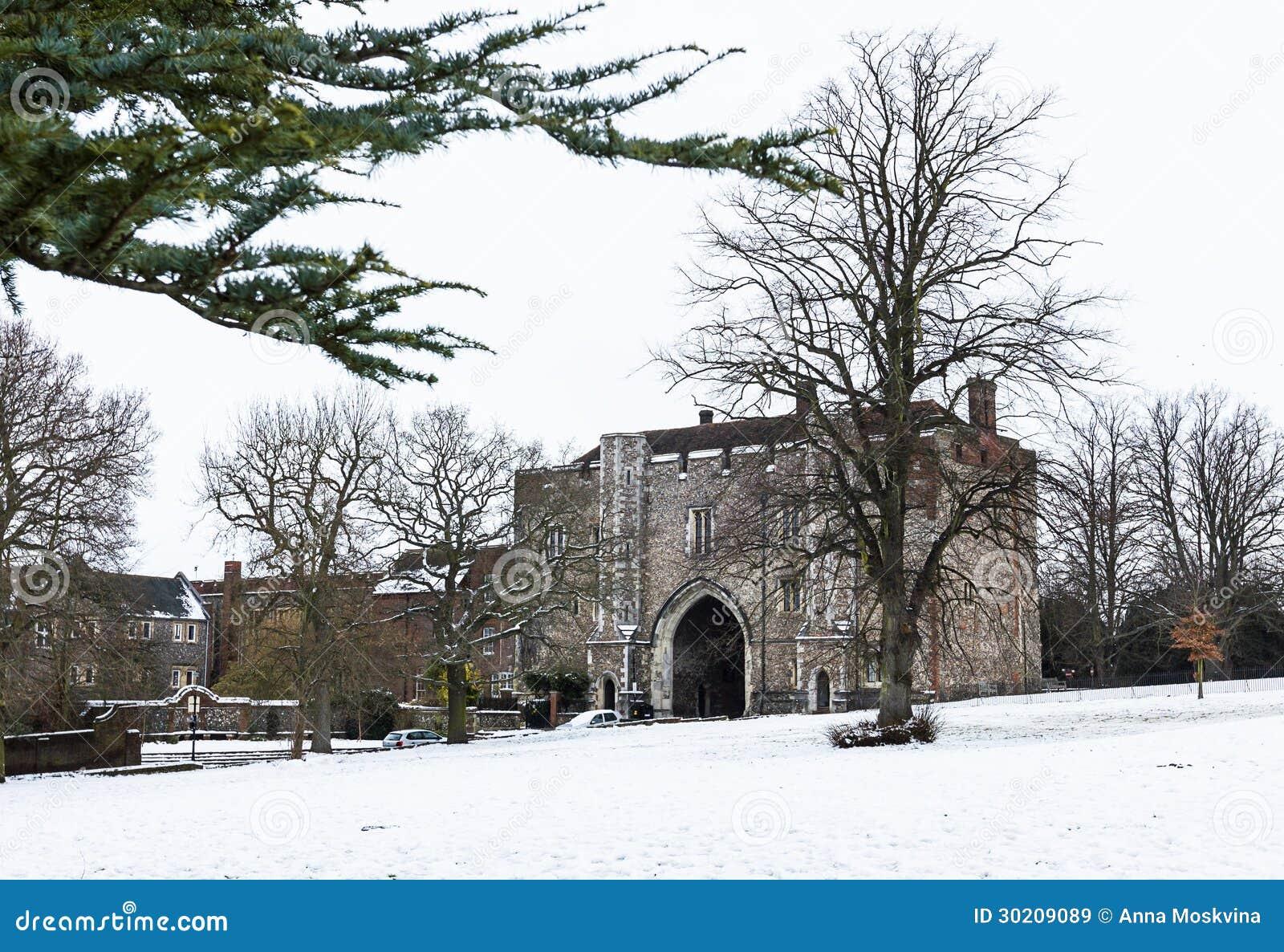 Bramy katedry i opactwa kościół Świątobliwy Alban w st.Albans,