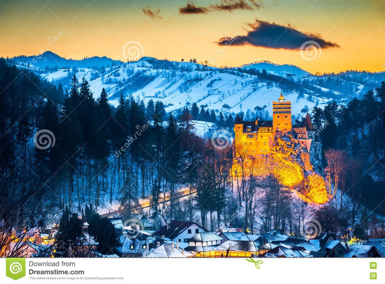Download Bran Castle - Romania, Transylvania Stock Image - Image of europe, legend: 81865437
