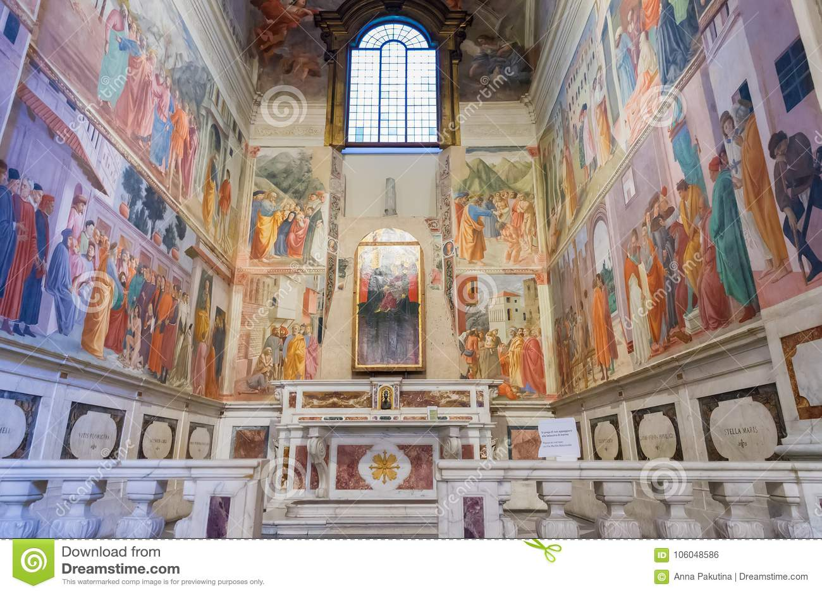 brancacci chapel in santa maria del The brancacci family owned the chapel in one of the transepts of santa maria del carmine since the 14th century, when it was founded by pietro di piuvichese brancacci (1367.
