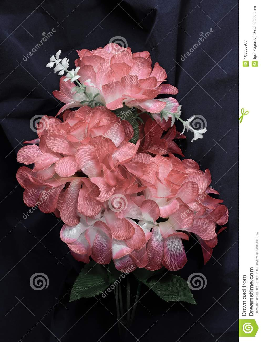 Branch Faded Artificial Flowers Stock Image Image Of Funeral