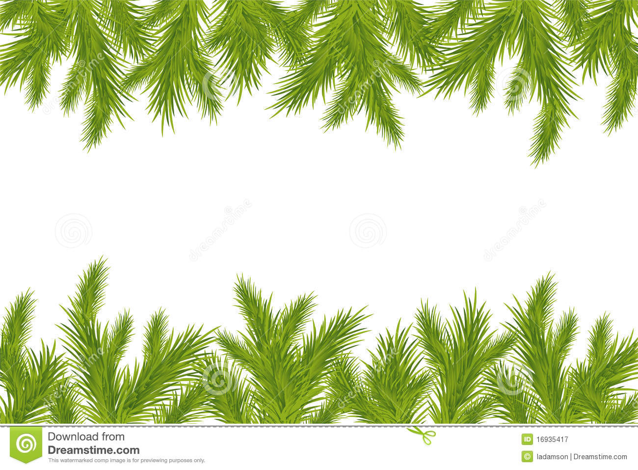 christmas tree branch vector - photo #14