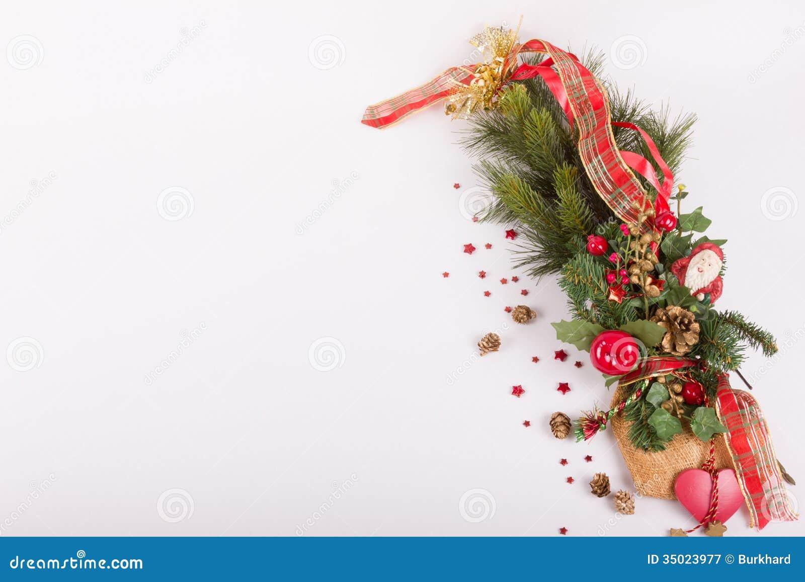 Branche De Sapin Avec La Decoration De Noel Image Stock Image Du