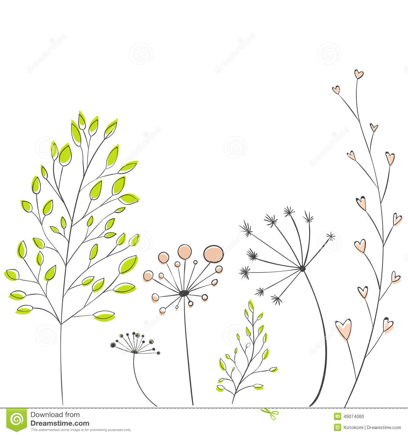 Modern wedding invitation card set vector branches with leaves and twigs modern vector stock vector stopboris Images