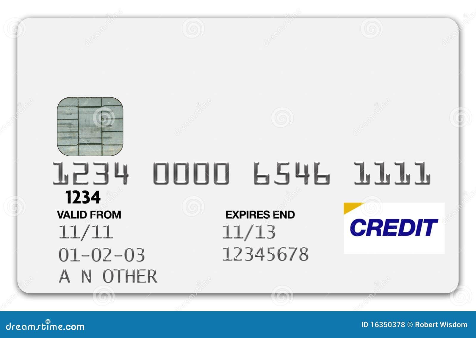Branco do cartão de crédito