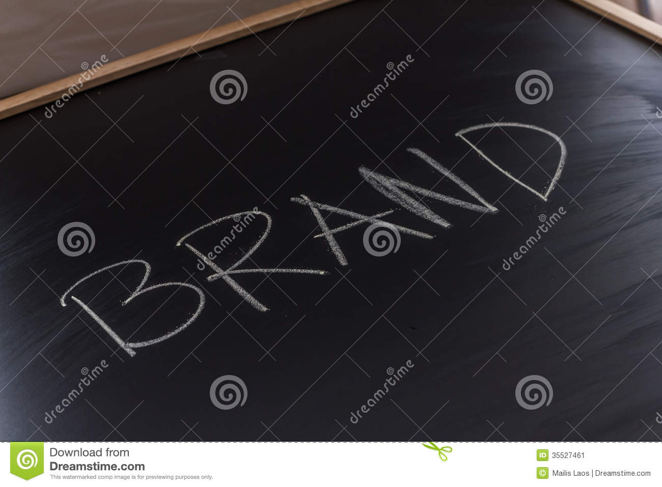 Download Brand on the Blackboard stock image. Image of letters - 35527461