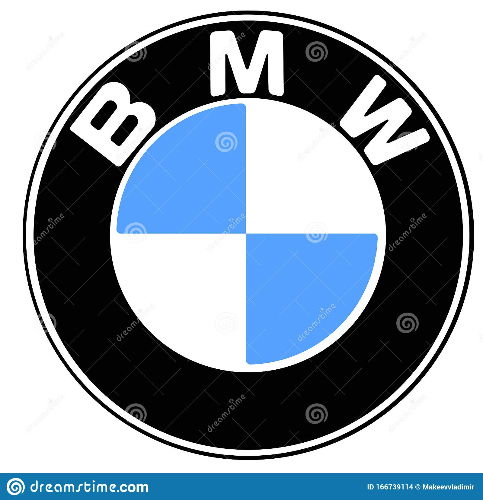 Brand Bmw Logo Drawing Editorial Stock Image Illustration Of Drawing 166739114
