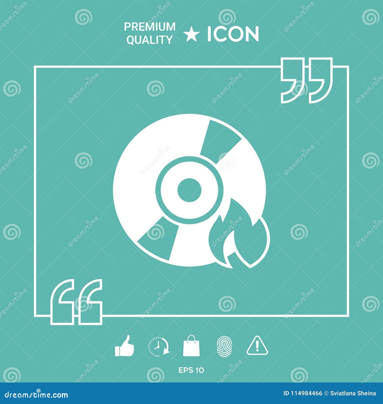 Brand CD- oder DVD-Ikone