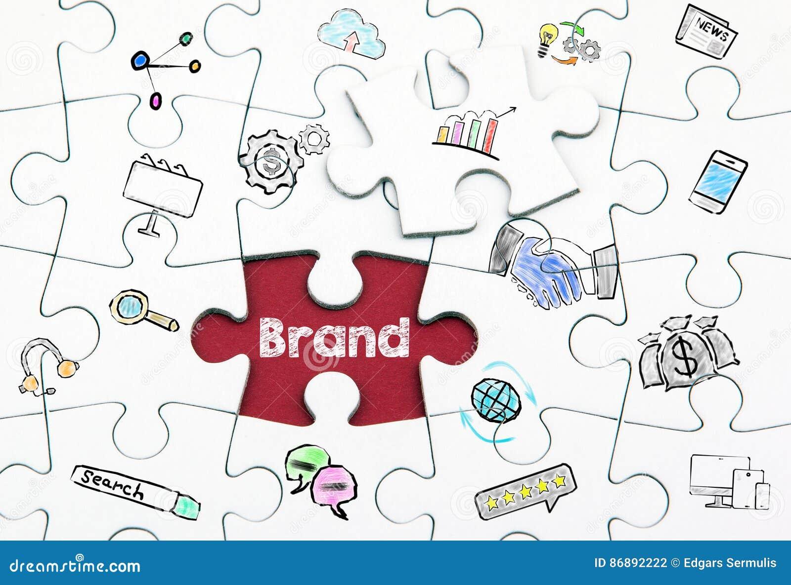 Brand concept. Last piece of a Puzzle