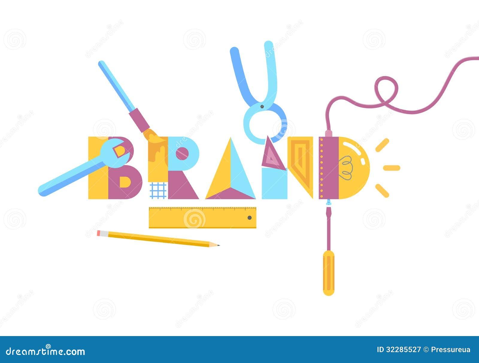 Brand construction concept stock vector image of build - Hacer una manta de ganchillo ...