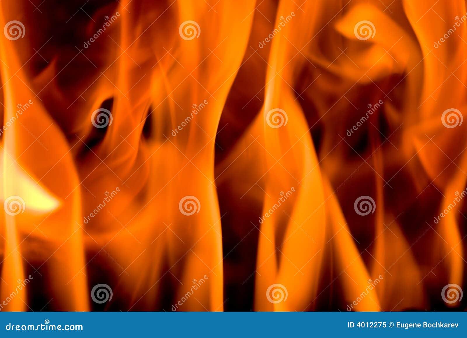 Brand in een open haard