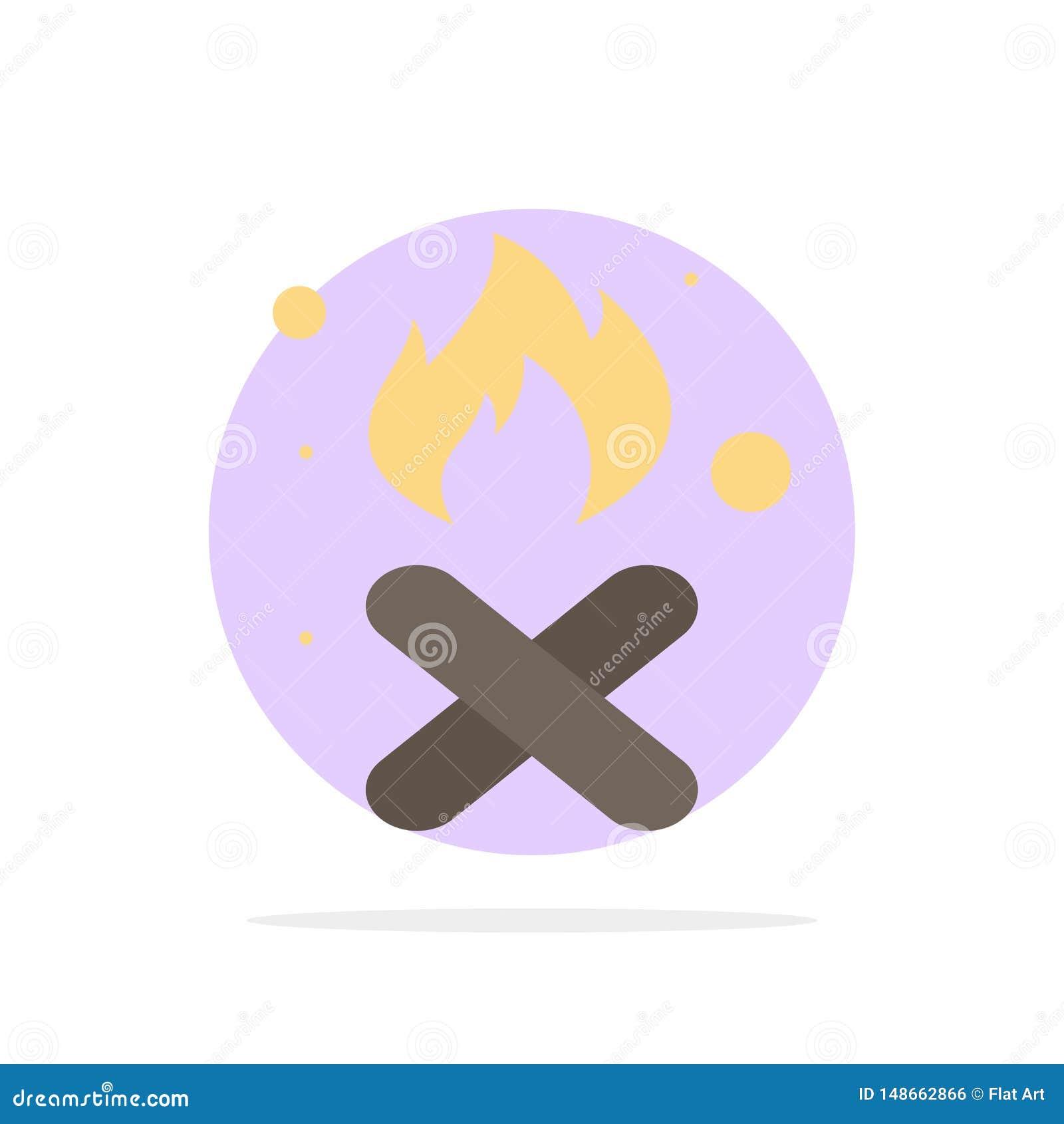 Brand, Feuer, Abfall, Verschmutzung, flache Ikone Farbe Rauch-des abstrakten Kreis-Hintergrundes