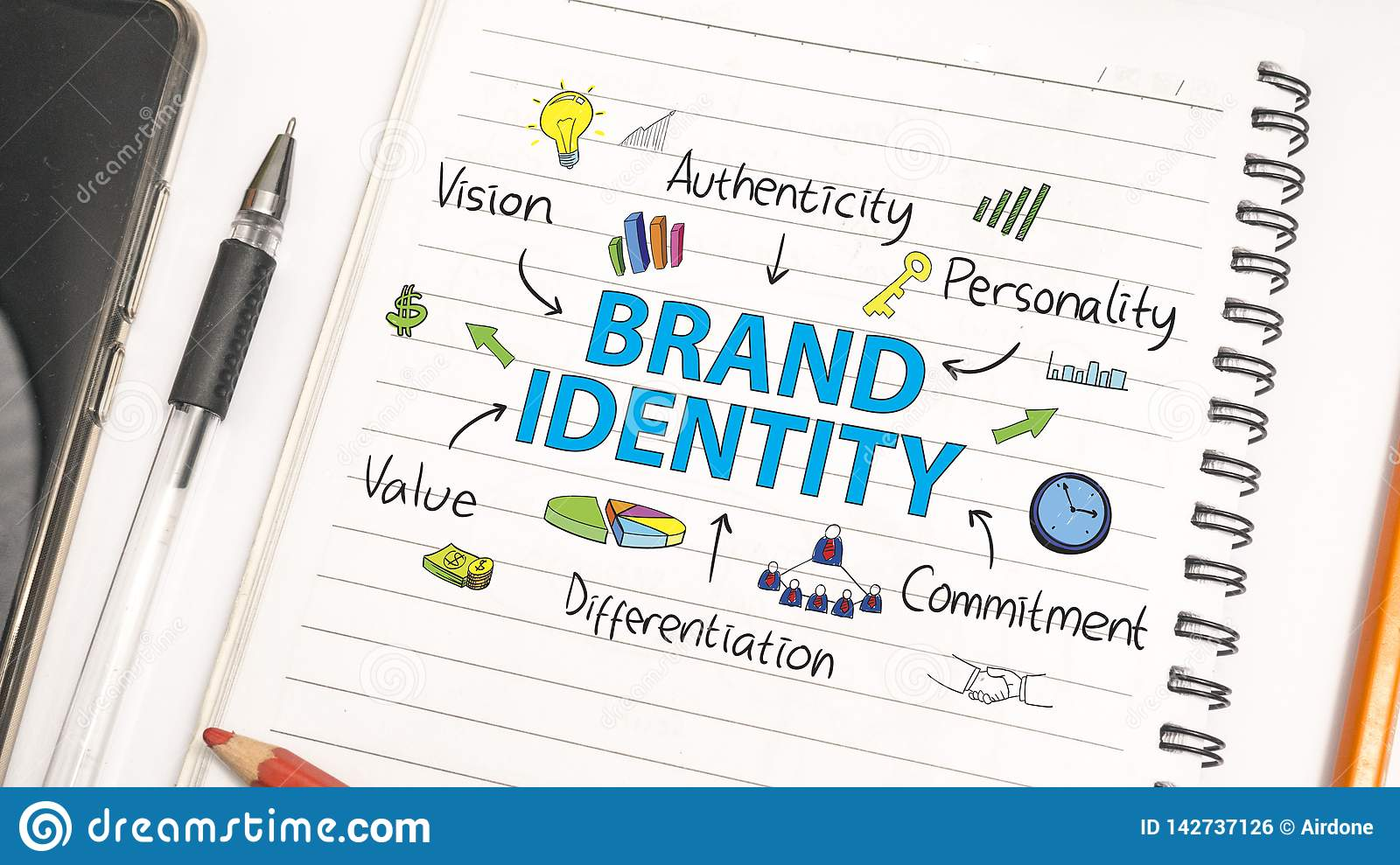 Brand Identity  Business Marketing Words Typography Concept
