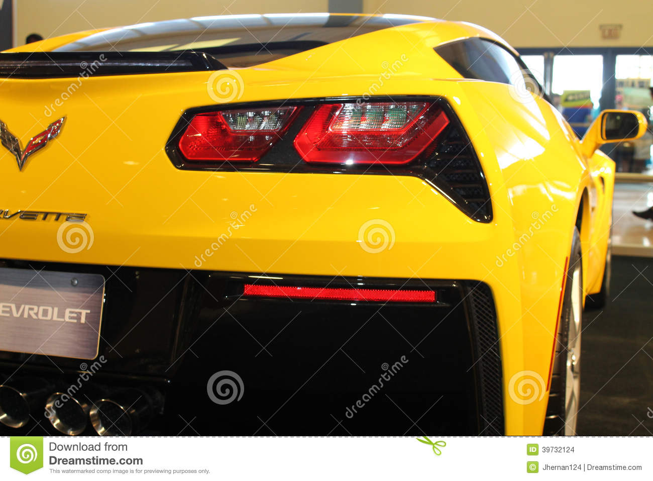 Brand New American Sports Car Rear Corner Editorial Stock Image