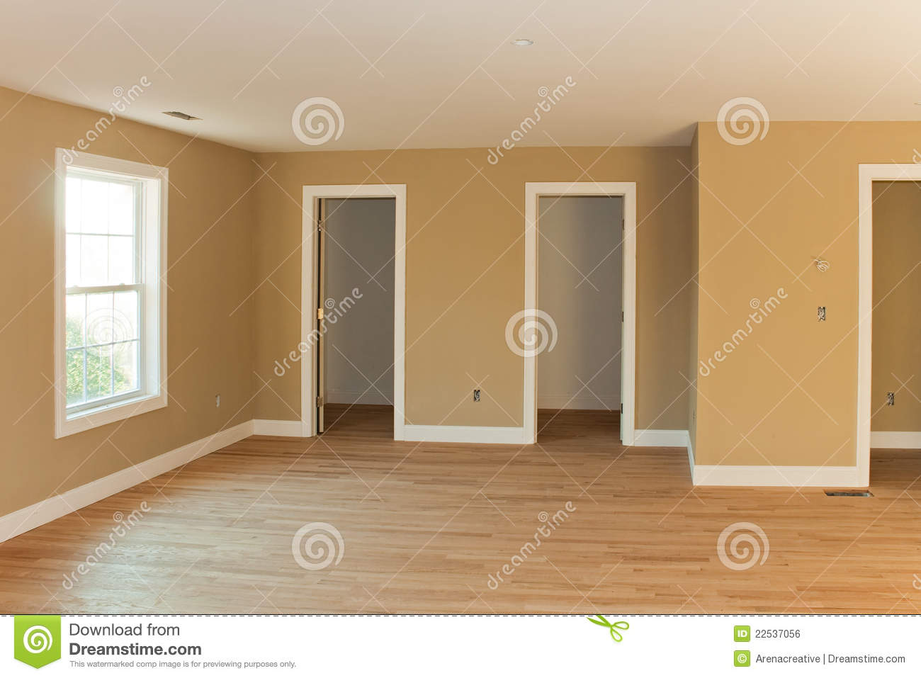 brand new home room interior royalty free stock image