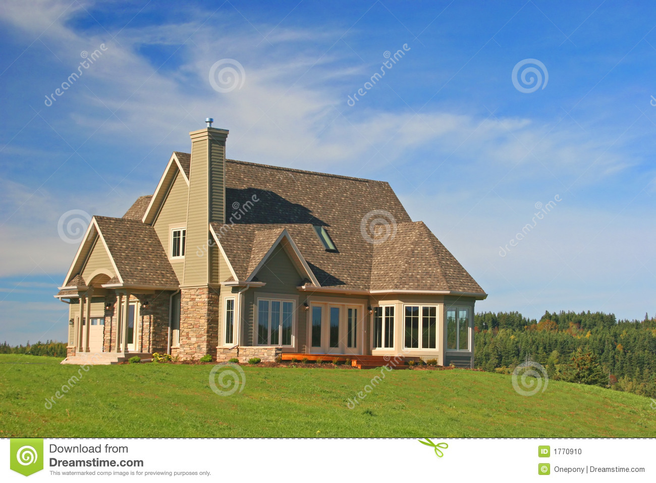 Brand new house stock photo image of abode dwelling for New house