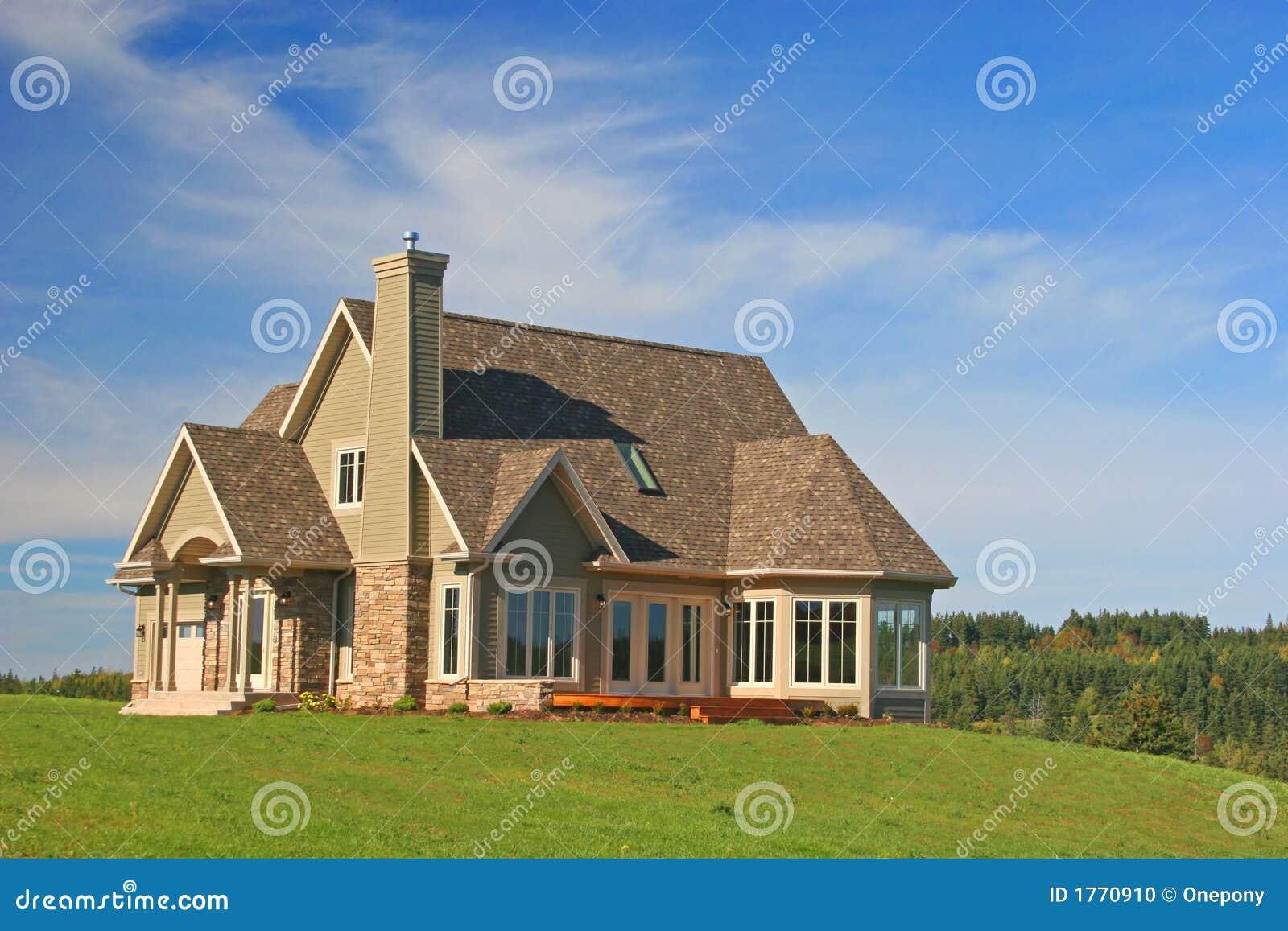 Stock Photo Brand New House Image1770910 on Hillside House Plans