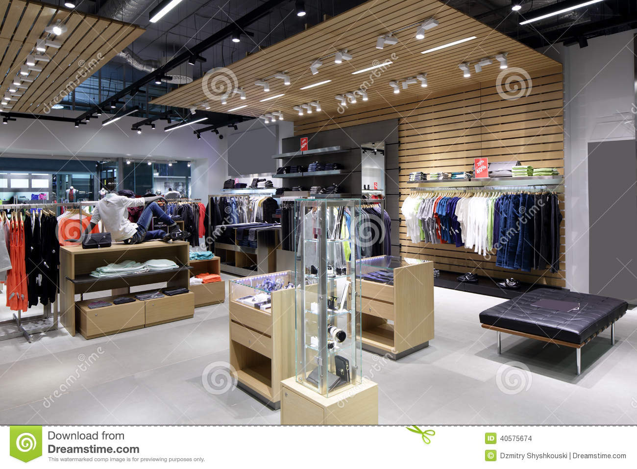 Brand New Interior Of Cloth Store Stock Photo Image