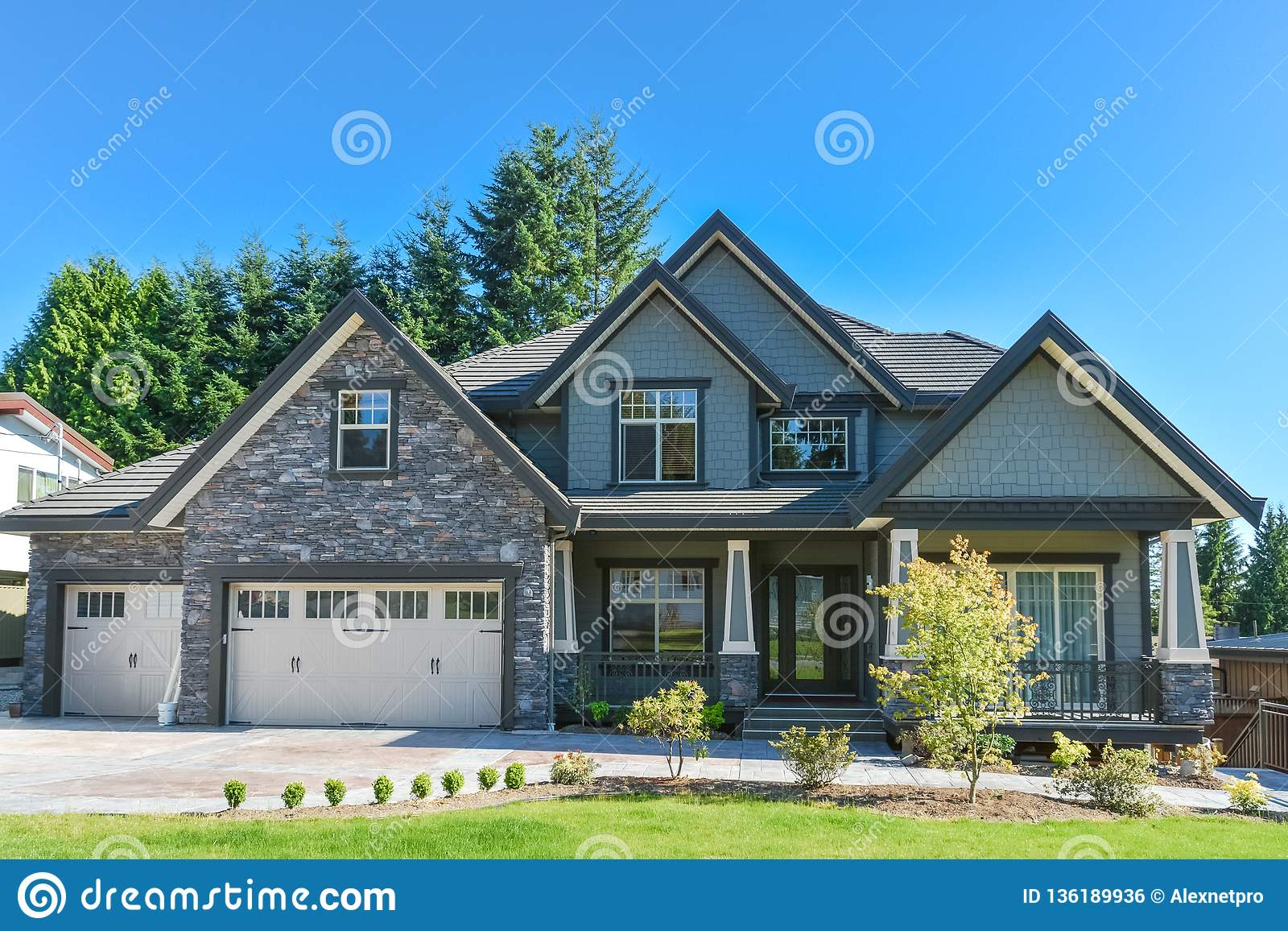 Brand New Luxury Family House With Concrete Driveway And ...
