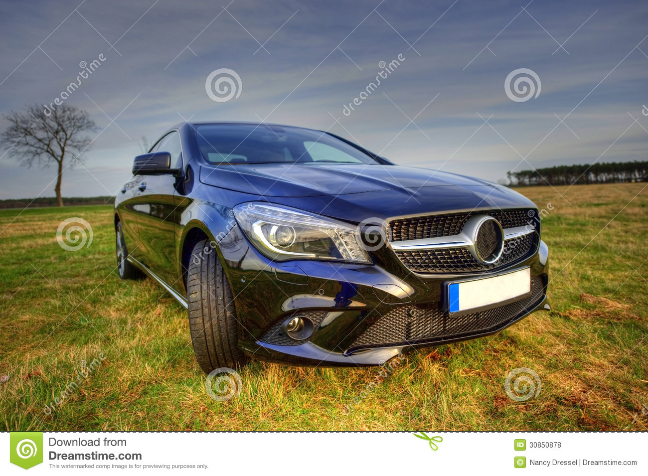 Brand new mercedes benz cla coupe sideview royalty free for Mercedes benz brand image