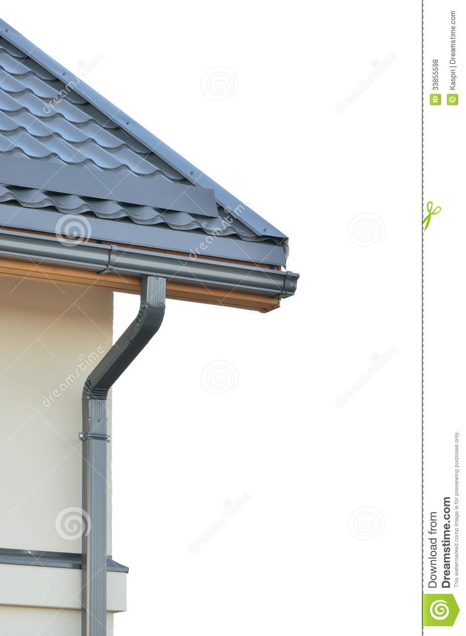 Brand New Roofing Grey Rooftop Isolated Gray Roof Tiles
