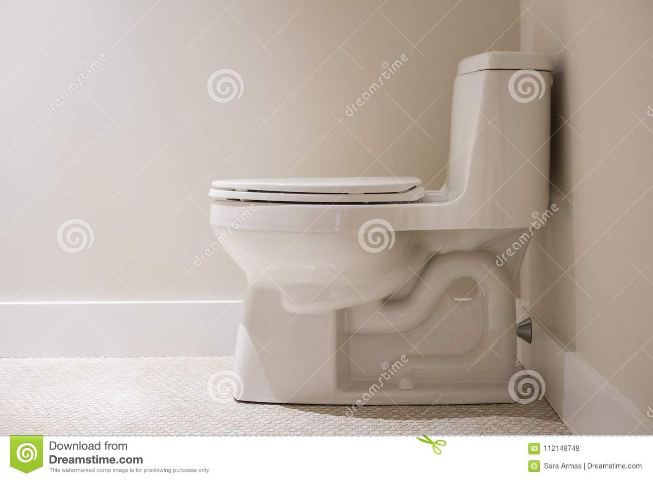 A brand new toilet. stock image. Image of brand, black - 112149749