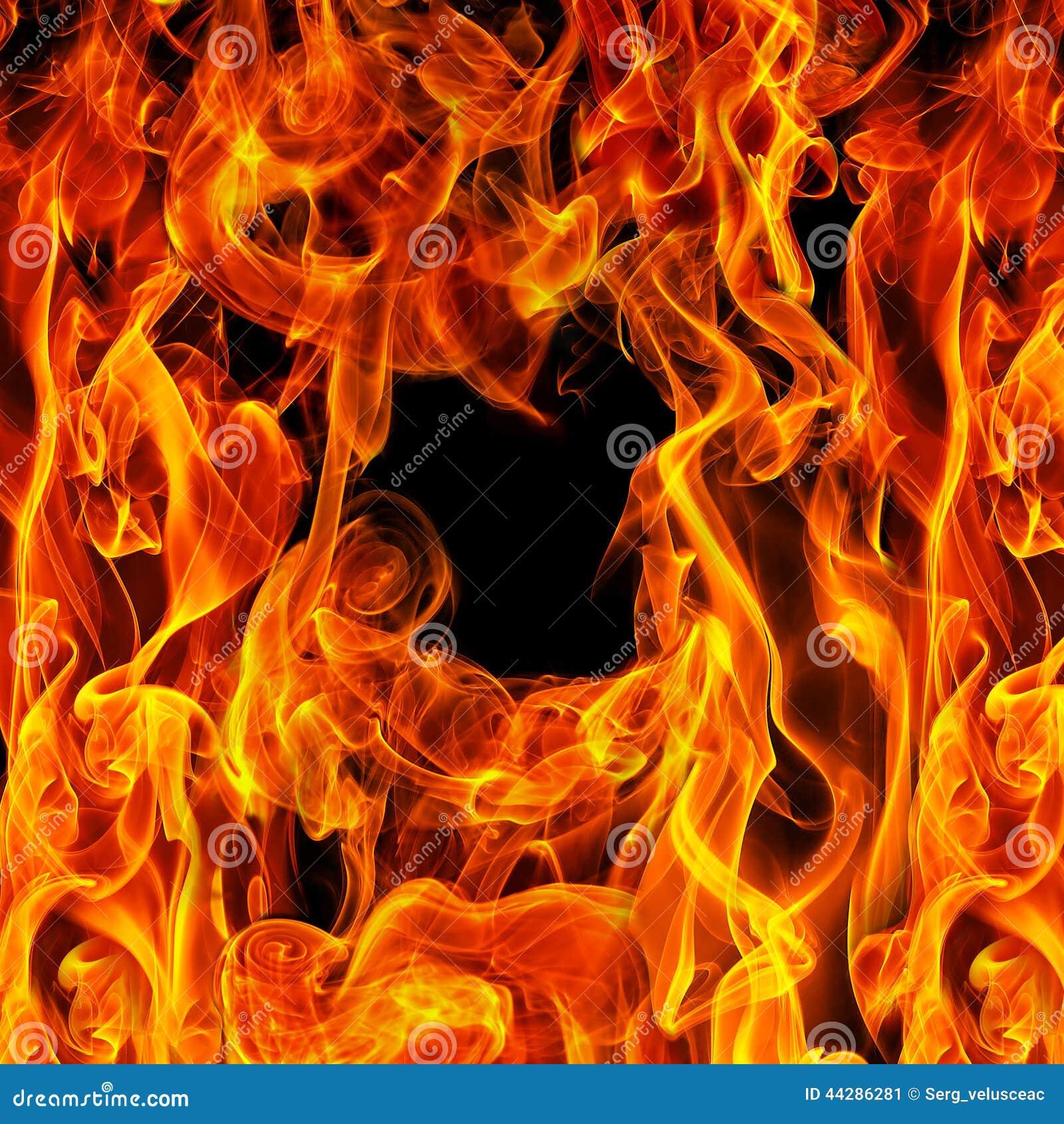 Brand op een zwarte