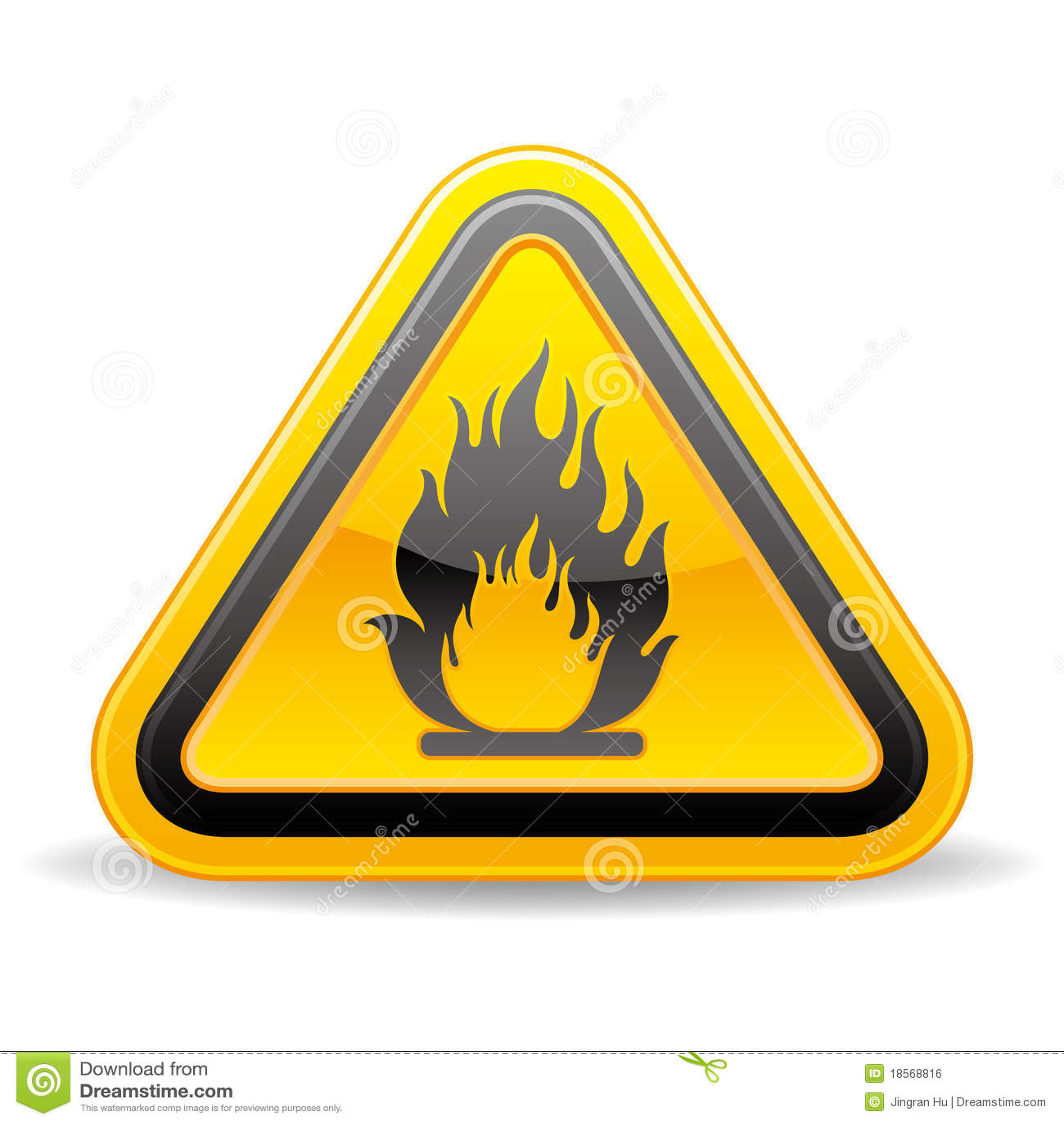 Brandbaar waarschuwingssein