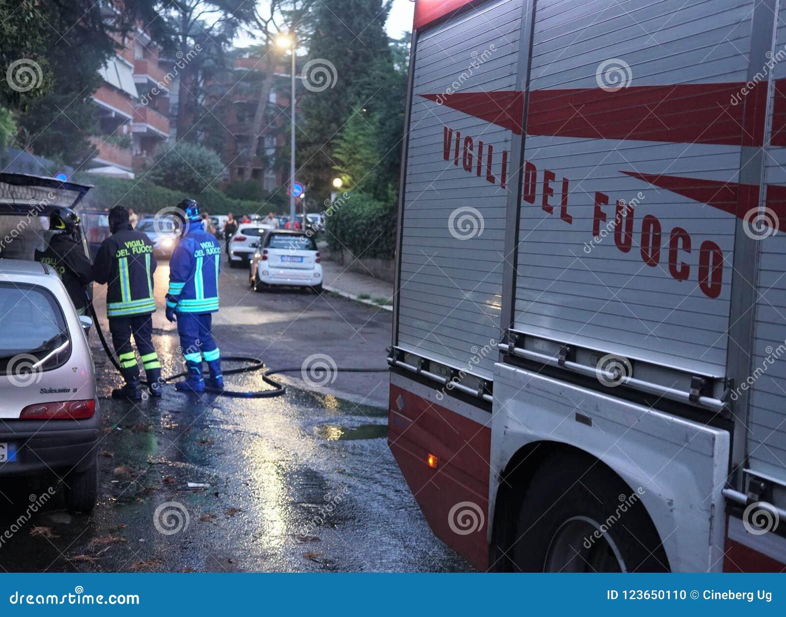 Brandbestrijders in actie