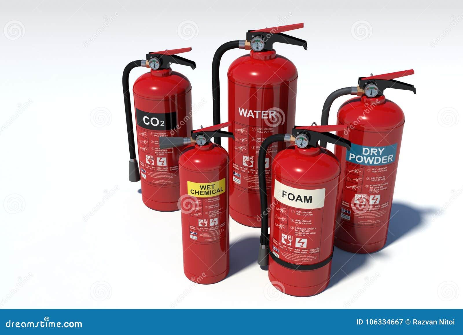 Brandblusapparatengroep - diverse types