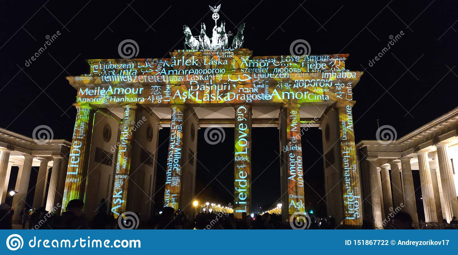 Brandenburg bramy światła przedstawienie Berlin