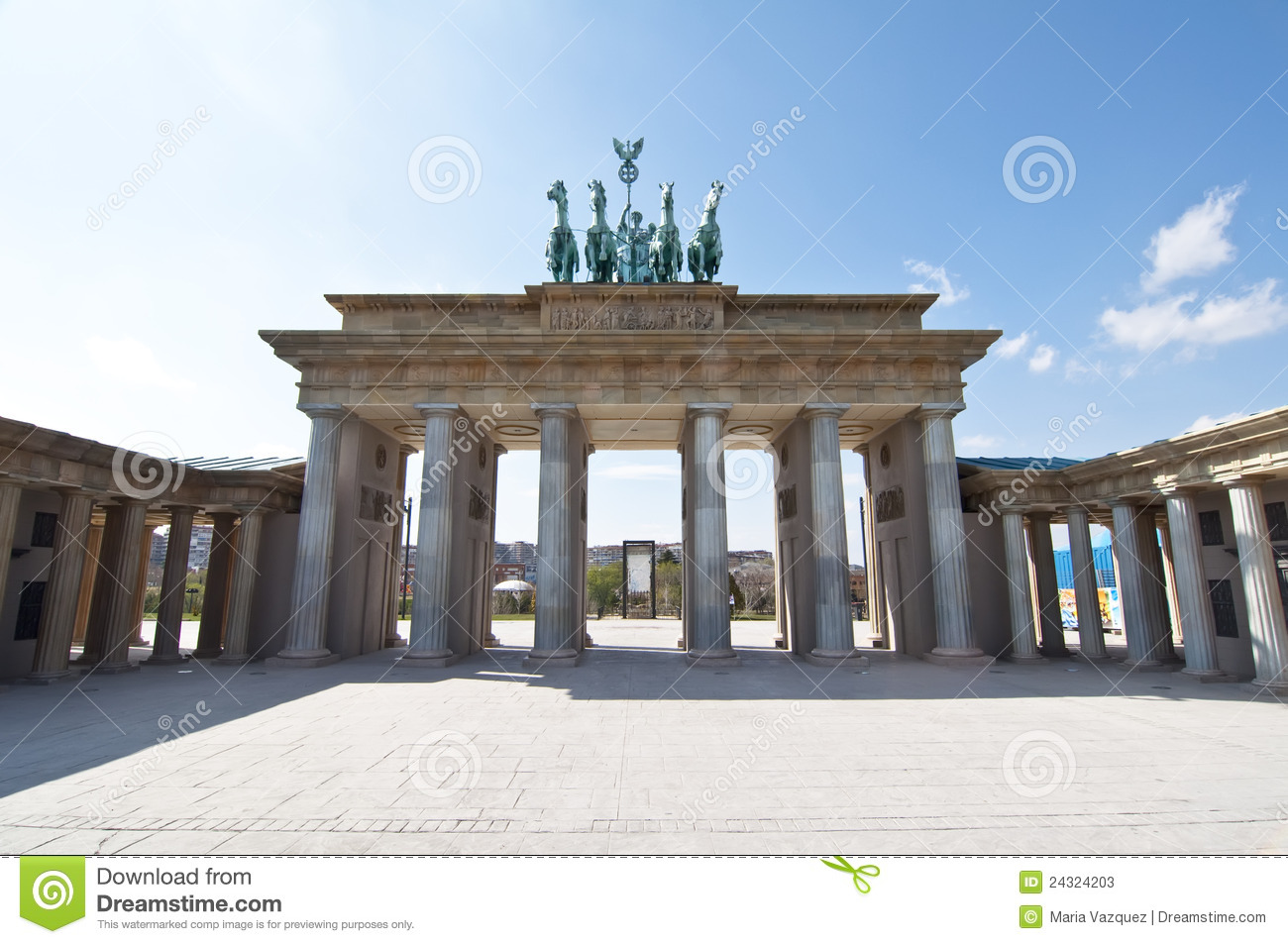 Brandenburg Gate in scale in Europa Park, Madrid