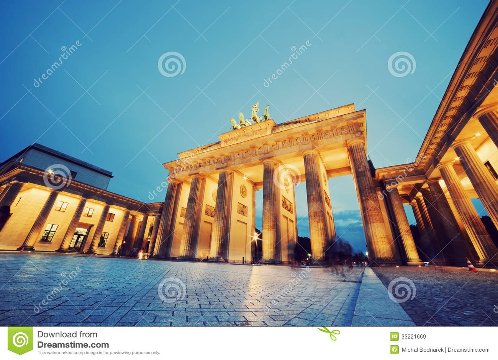 Brandenburg port, Berlin, Tyskland