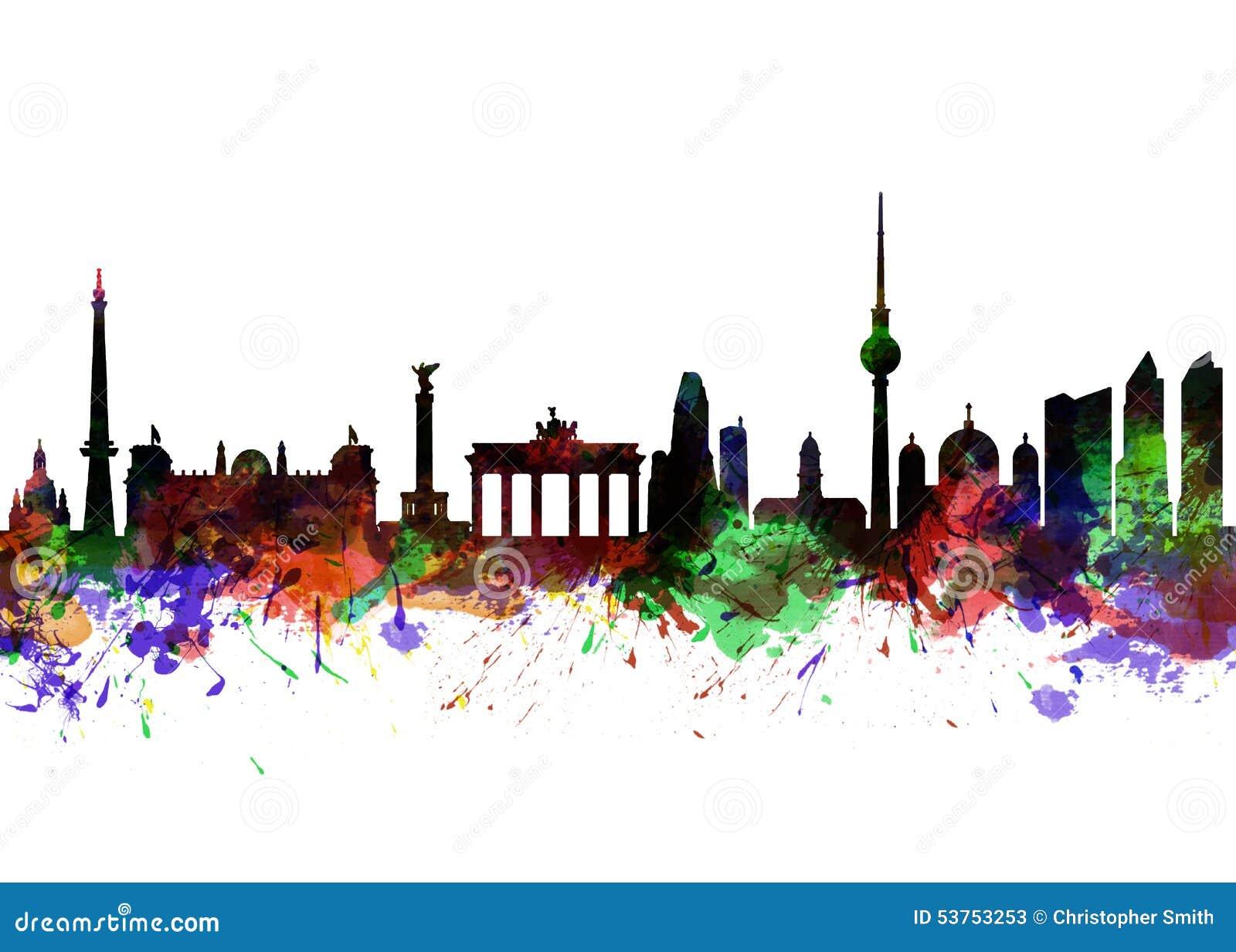 Brandenburger Tor Berlin- stock abbildung. Illustration ...