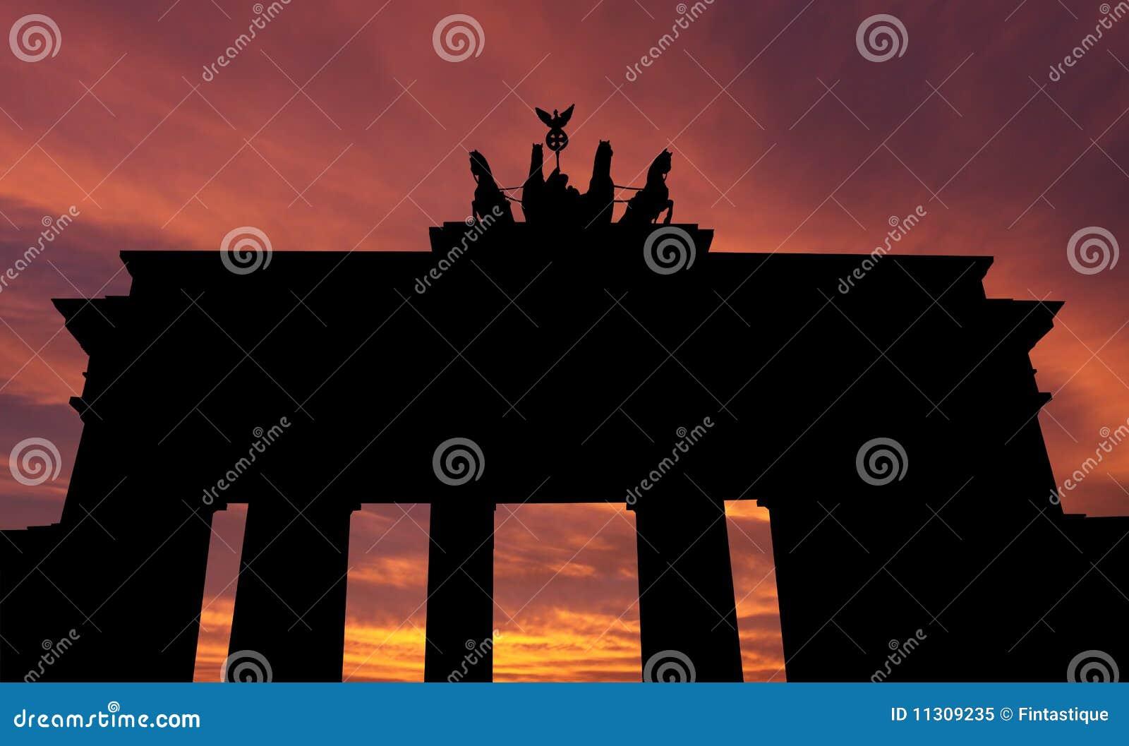Brandenburger Tor am Sonnenuntergang