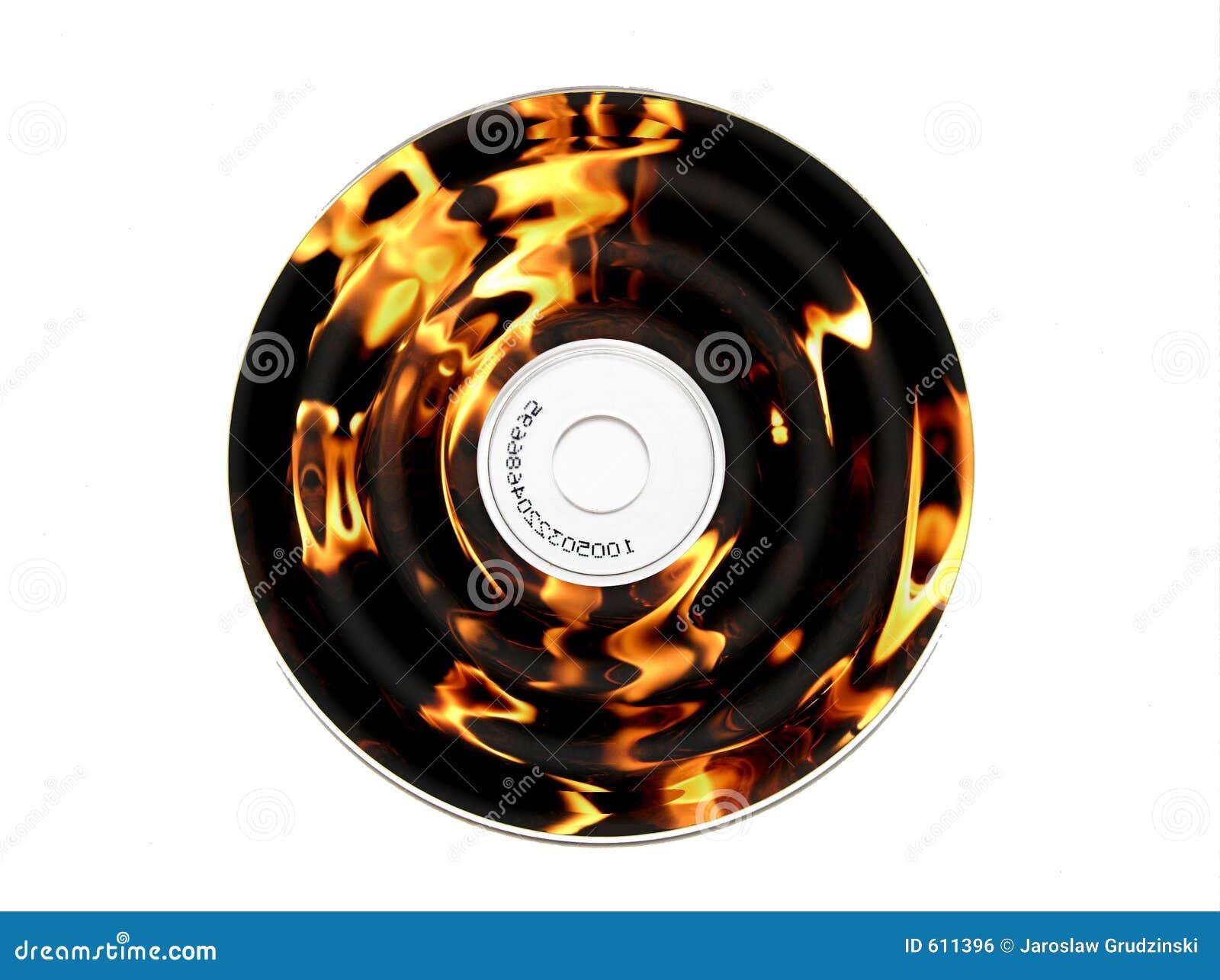 Brandende CD