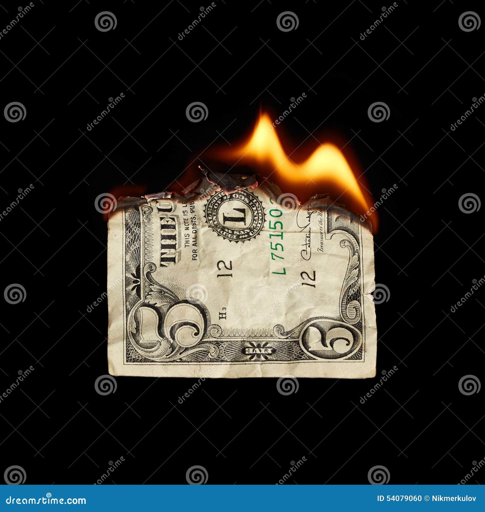 Brandende dollar
