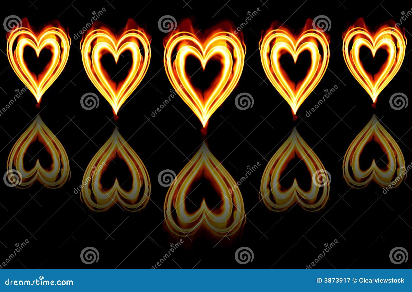 Brandende hartstochtsharten op brand