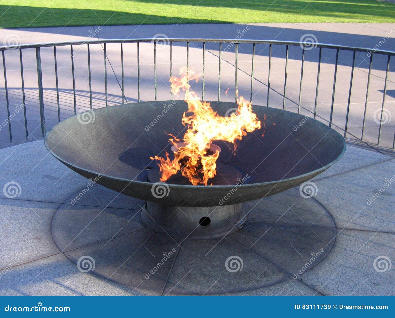 Brandende toorts in park, Melbourne