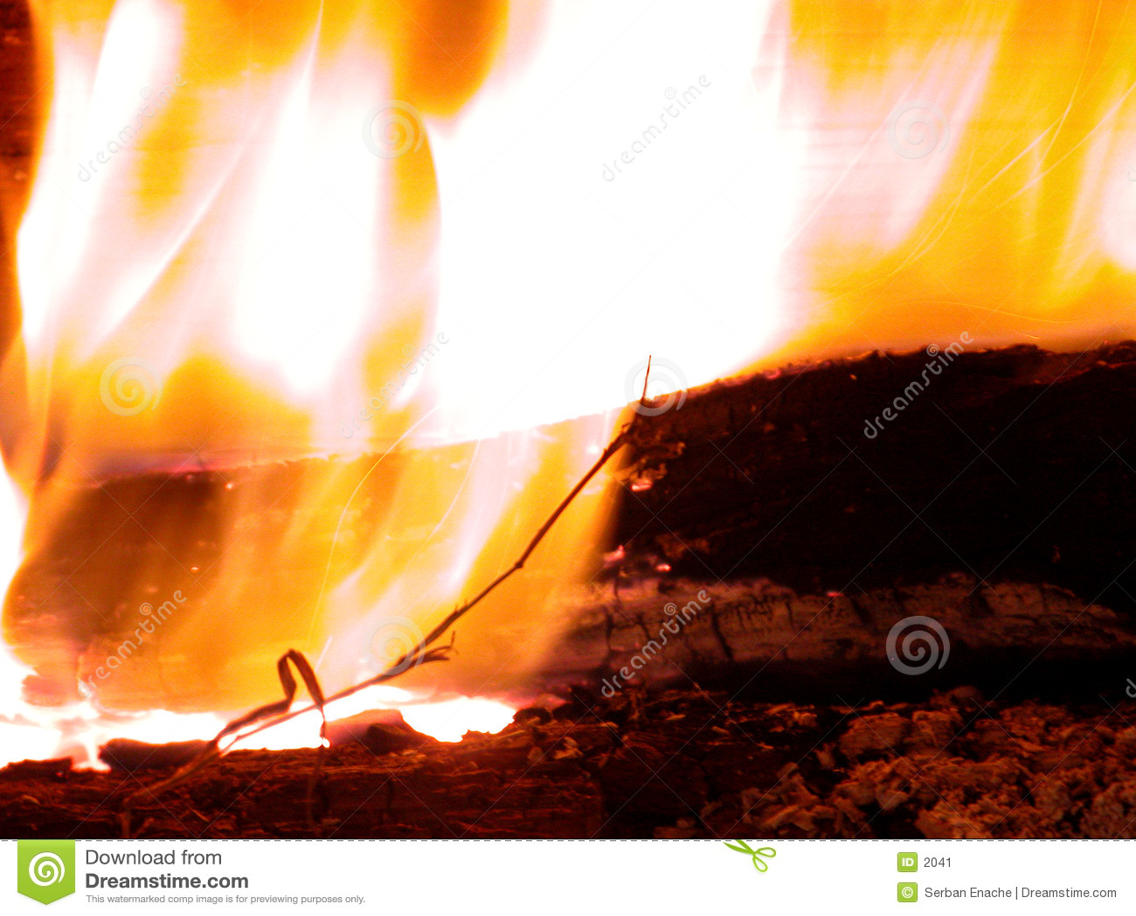 Brandende vlammen